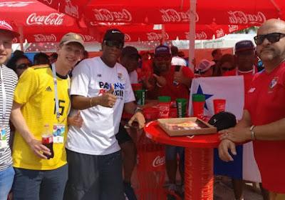 """Les supporters panaméens confiants : """"Ce soleil, ça va nous aider!"""""""
