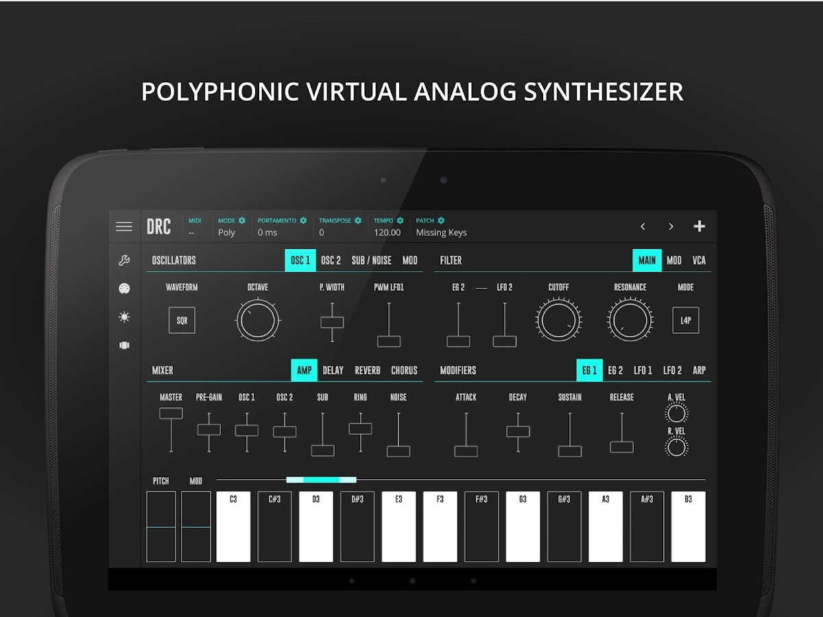 DRC - Polyphonic Synthesizer- screenshot
