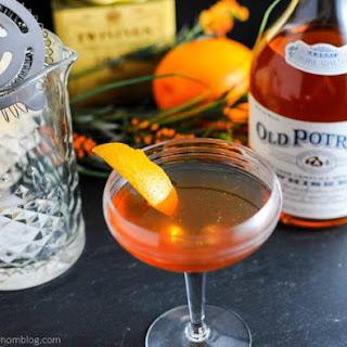 Earl Grey Manhattan With Old Potrero 18 Century Style Whiskey.