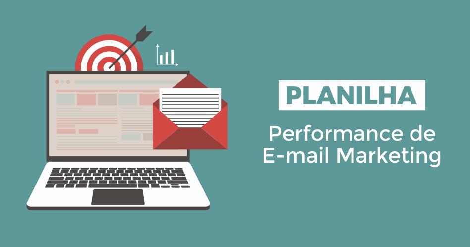 Planilha de performance de e-mail marketing
