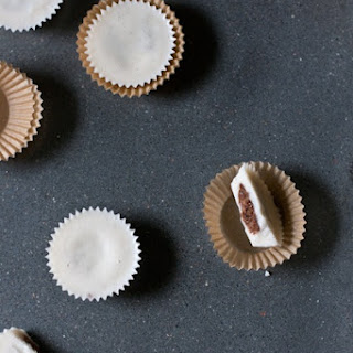 Vanilla Bean Coconut Butter Cups With Chocolate Peanut Butter
