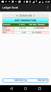 Ledger Book App - náhled