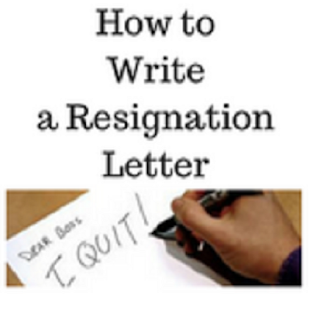 How to write a resignation letter - náhled