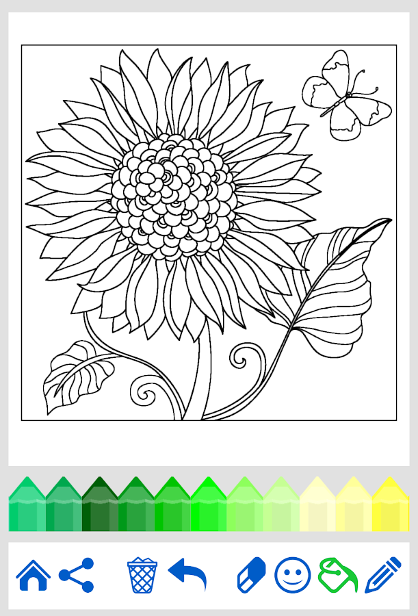 Adult coloring flowers android apps on google play Coloring book for adults android