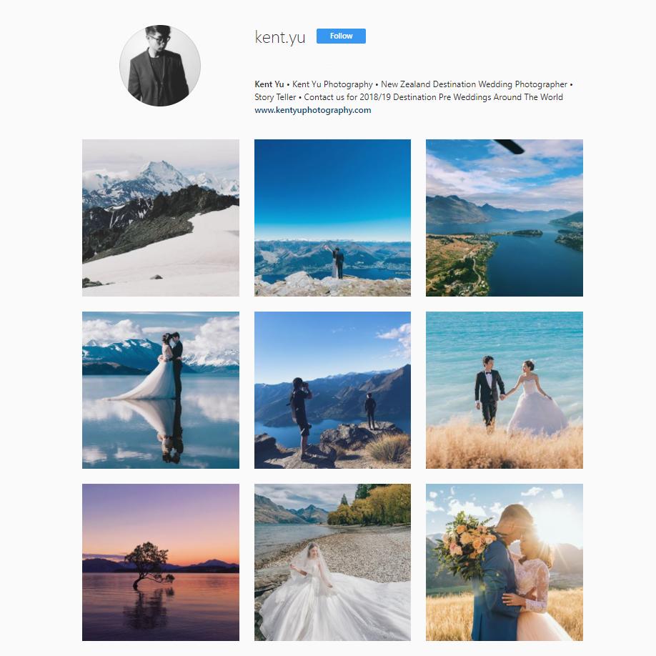 New Zealand Pre-Wedding Photographer on Instagram | Kent Yu
