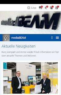 mediaBEAM - náhled
