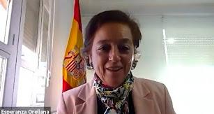Esperanza Orellana en uno de los momentos de la charla.
