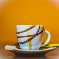 Tracce di un caffè frettoloso. di