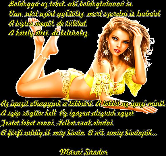 Marika oldala -    Idézetek-Versek     Márai Sándor.  3682a70af94