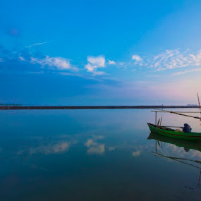 Alone by Victor Lin - Transportation Boats