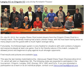 Photo: This Article for BC Chess Federation BULLETIN #245 was written by Konstantin Pyryaev and kindly edited by Andrew Hower. http://www.chess.bc.ca/bcbulletin.shtml