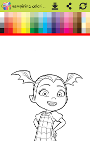 coloring book for halloween vampire girle - náhled