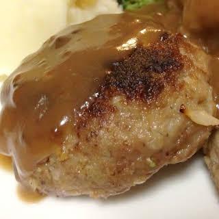 Fried Mustardy Beef Rissoles.