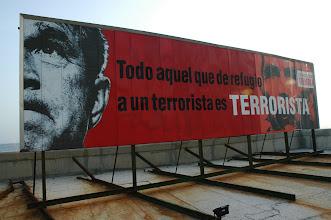 Photo: billboard showing george bush in havana. tracey eaton photo.