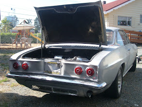 Photo: 1966 Corvair Corsa Turbocharged 180 HP. The top of the Corvair line and last year for the Corsa and Turbocharged engine. Chateau Slate (Metallic medium Silver) Black vinyl interior..