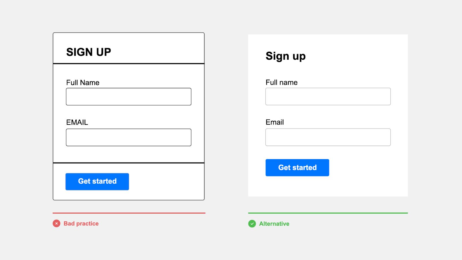 sign-up form better version