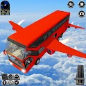 Flying Bus Driving simulator 2019: Free Bus Games icon