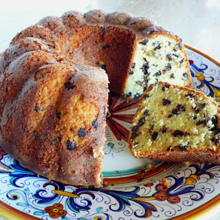 Cream Cheese Chocolate Chip Pound Cake.