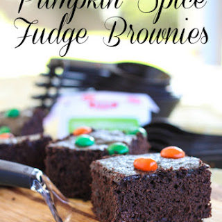 Pumpkin Spice Fudge Brownies