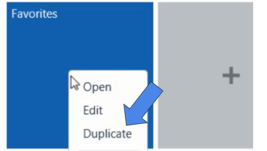 Duplicate a saved search