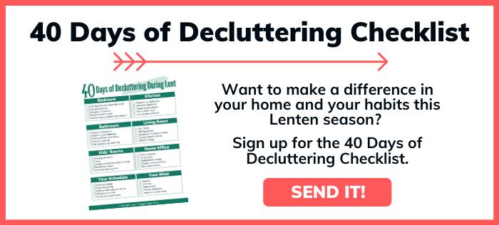 Click to get decluttering checklist
