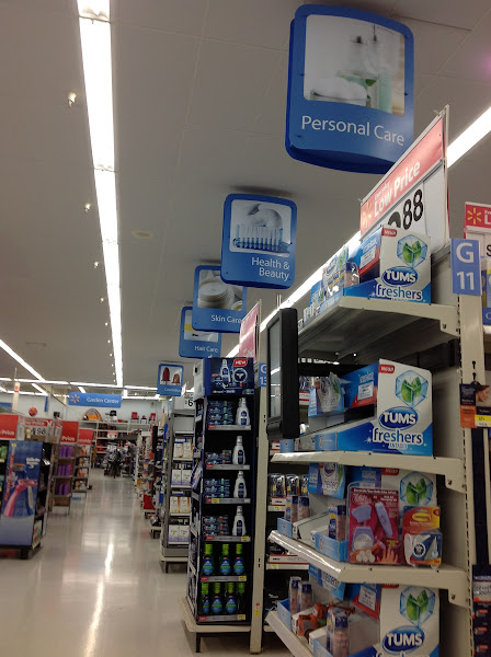 Photo: We continued to the Personal Care Department.