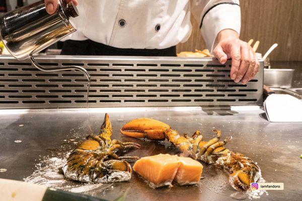 新竹美食-享廚鐵板燒Enjoy Teppanyaki 輕奢華饗宴 御用特餐前菜可品嘗到龍蝦與魚子醬干貝 竹北鐵板燒 超值享受