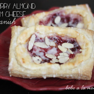 Raspberry Almond Cream Cheese Danish