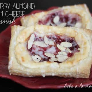 Raspberry Almond Cream Cheese Danish.