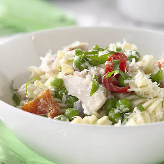 Pasta with Chicken and Peas.