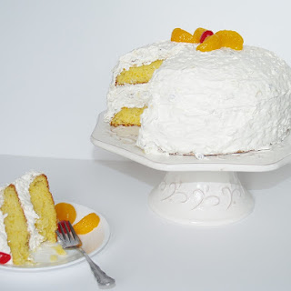 Aunt Betty's Gussied Up Mandarin Orange Cake