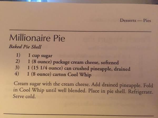 4 Ingredient Millionaire Pie