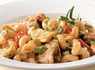 Tuna Pasta With Olives & Artichokes Recipe