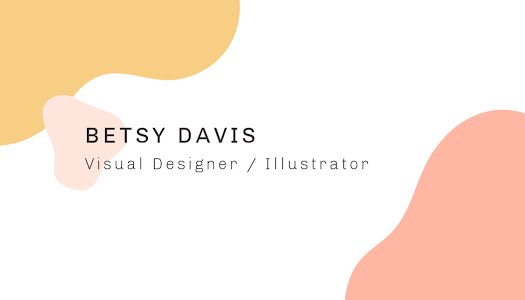 Davis Illustrator Front - Business Card Template