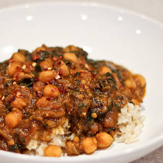 Indian Inspired Pumpkin & Chickpea Curry.