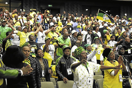 Change in the air: ANC members at the provincial elective conference in East London on October 1 2017. The party will consider an array of amendments to its constitution before the party elections. Picture: SUPPLIED