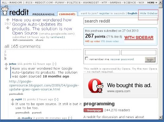 Reddit Hide Sidebar