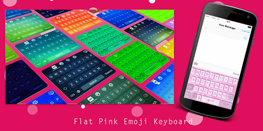 Flat Pink Emoji Keyboard