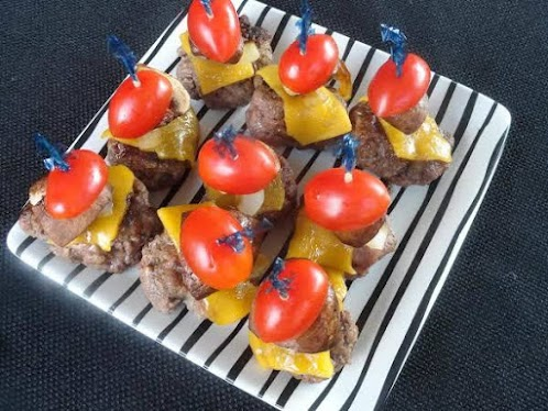 Cheddar Burger Appetizers