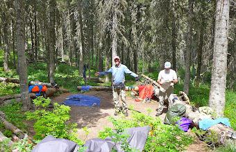 Photo: Campsite on night #4 - everything is laid out to dry