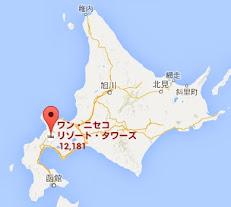 地図:ワン・ニセコ・リゾート・タワーズ