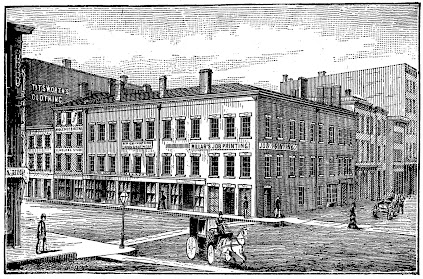 The Saloon Building in Chicago, 1839