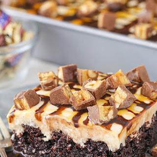 Snickers Poke Cake.