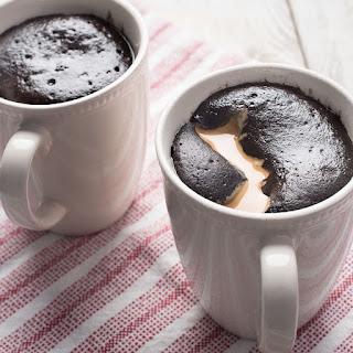 Gluten Free Vegan Chocolate Peanut Butter Mug Cakes