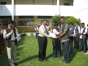 Photo: Gaurav Mandappa B G secured 2nd place in 400mts running race and 4x100mtr relay and 3rd place in high jump