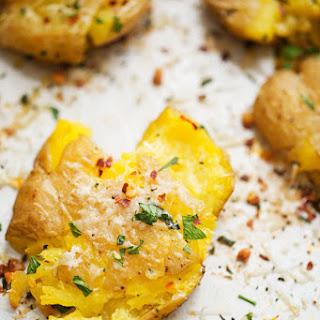 Parmesan Garlic Smashed Potatoes