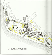 Photo: Plano I da Moureira de Arriba en 1990, entre  dúas pontes, a do Burgo e a da Barca
