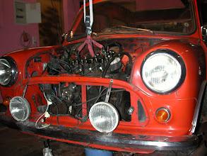 Photo: Auch der Motor raus