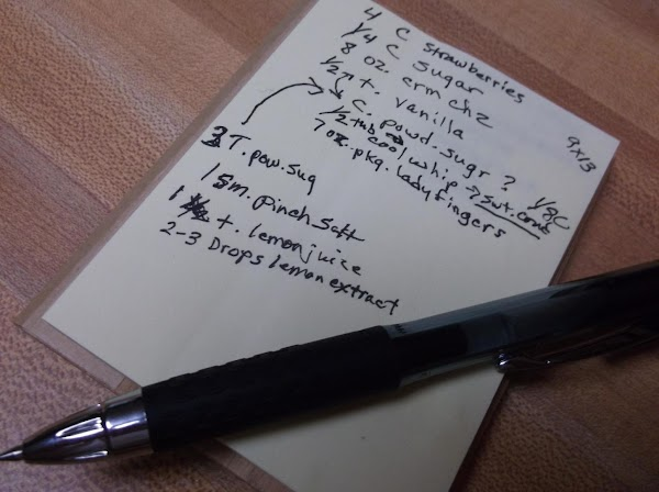 Recipe may be doubled. (Photo: My scribbled notes from developing the recipe)