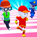 Knockout Fall Guys 3D Run - Royale Race icon